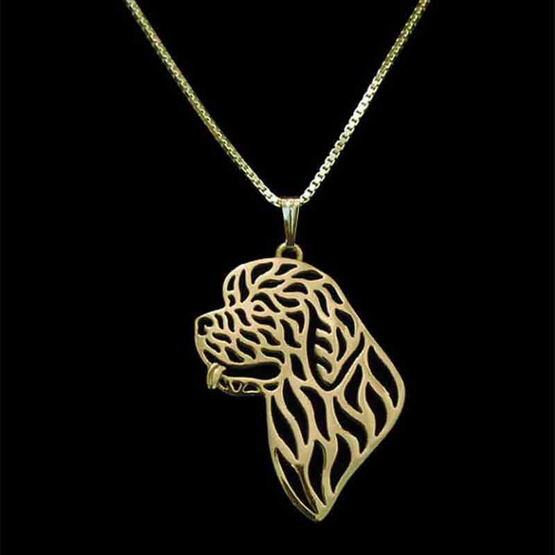 Newfoundland Dog Pendant Necklace Gold-color For Pet Lovers Women Fashion Boho Chic Animal Jewelry & Cloth Accessories 2017