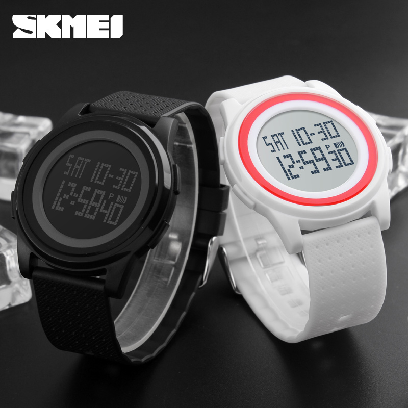 SKMEI 1206 Men Women LED Digital Wristwatches Relogio Masculino Feminino Waterproof Sport Thin Fashion Simple Dial Mens Watch