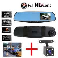 Car DVR Mirror 4 3inch Screen Dash Camera Video Recorder Vehicle Auto Dashcam Rear Mirror Car