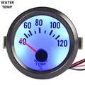 """Apoyo EE 2 """"Puntero Del Reloj de Shell negro Blanco Pantalla Led Azul Medidor de Temperatura Medidor de Temperatura del Agua 52mm Marca Car-styling XY01"""