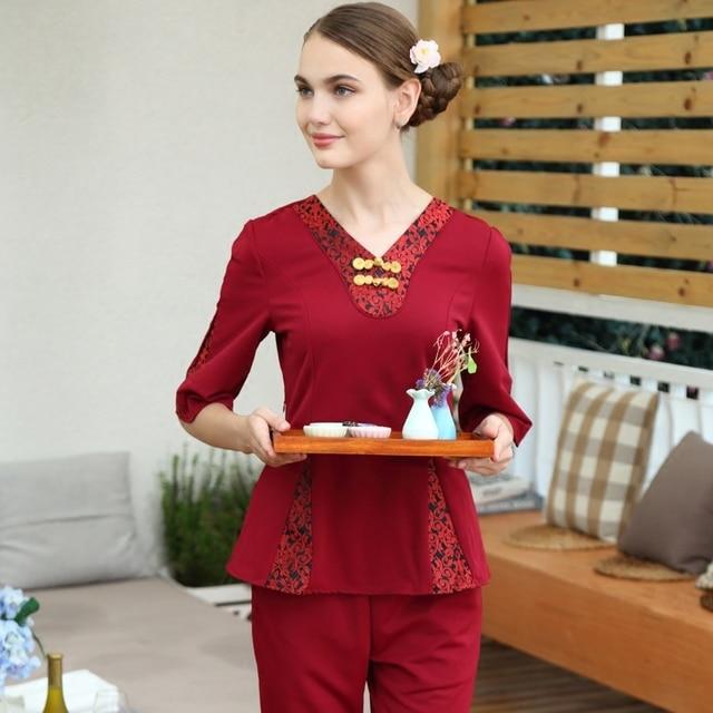 Europe fashion rose nurse uniform 2017 latest beauty club for Spa uniform europe