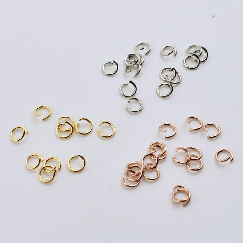 1 paquet acier inoxydable 0.6mm épaisseur ouvert saut fendu anneau connecteur ajustement collier à faire soi-même Bracelets bijoux faisant des matériaux