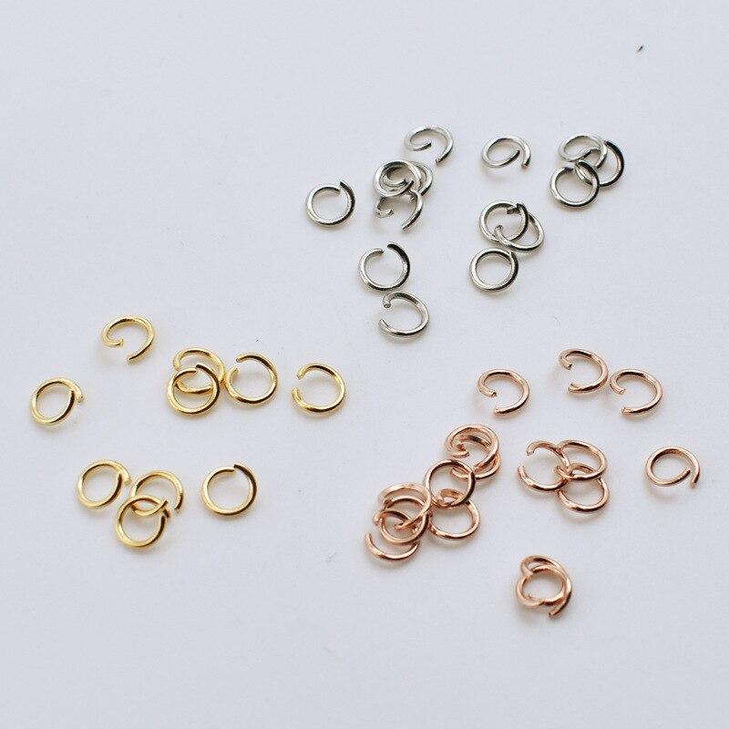 100 шт./лот нержавеющая сталь 0,6 мм Толщина Открыть Перейти Разделение кольцо разъем подходит