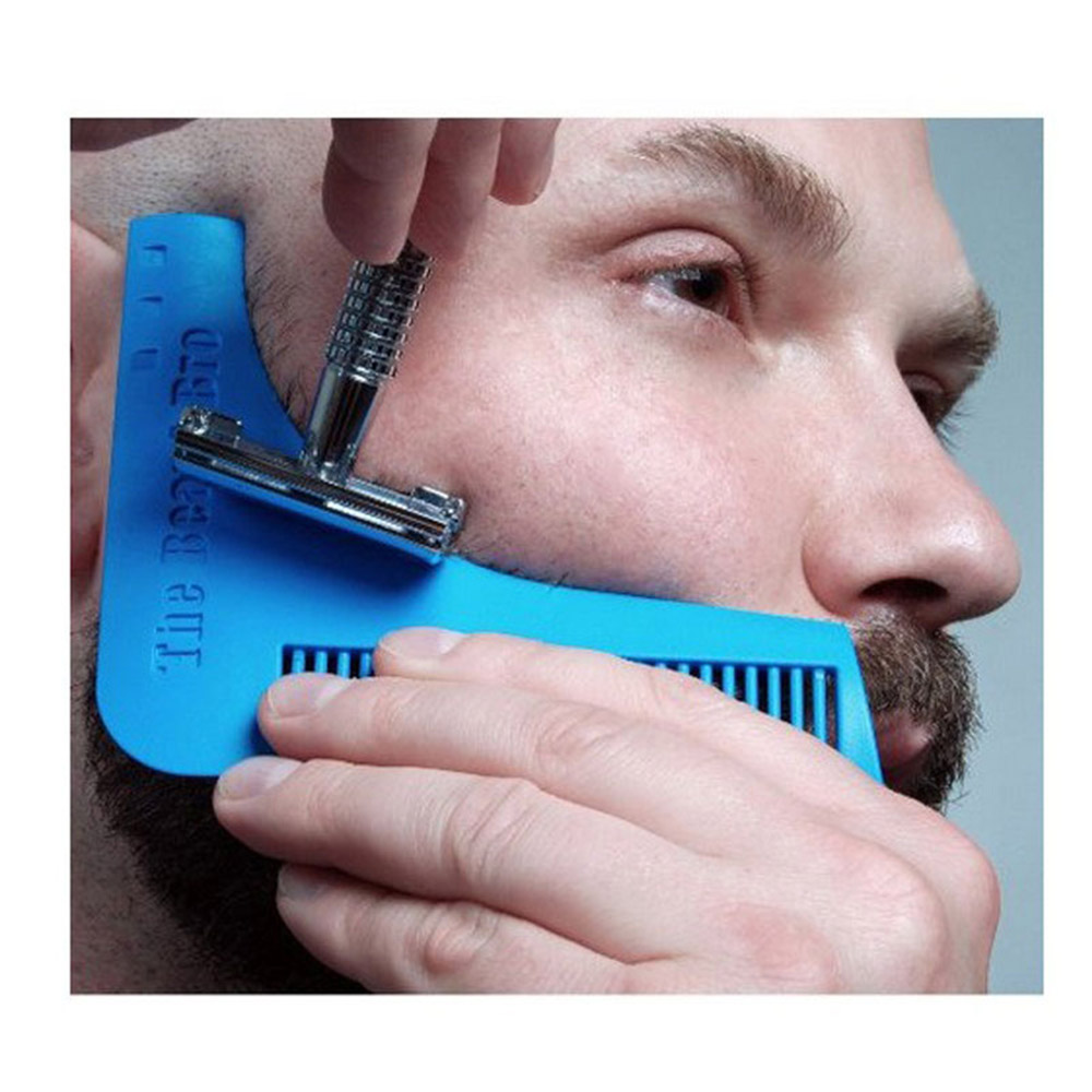 1PCS Beard Bro Beard Shaping Tool Gentleman Sex Man Beard Trim Template Hair Cut Molding Trim Template Beard Modelling KC1383
