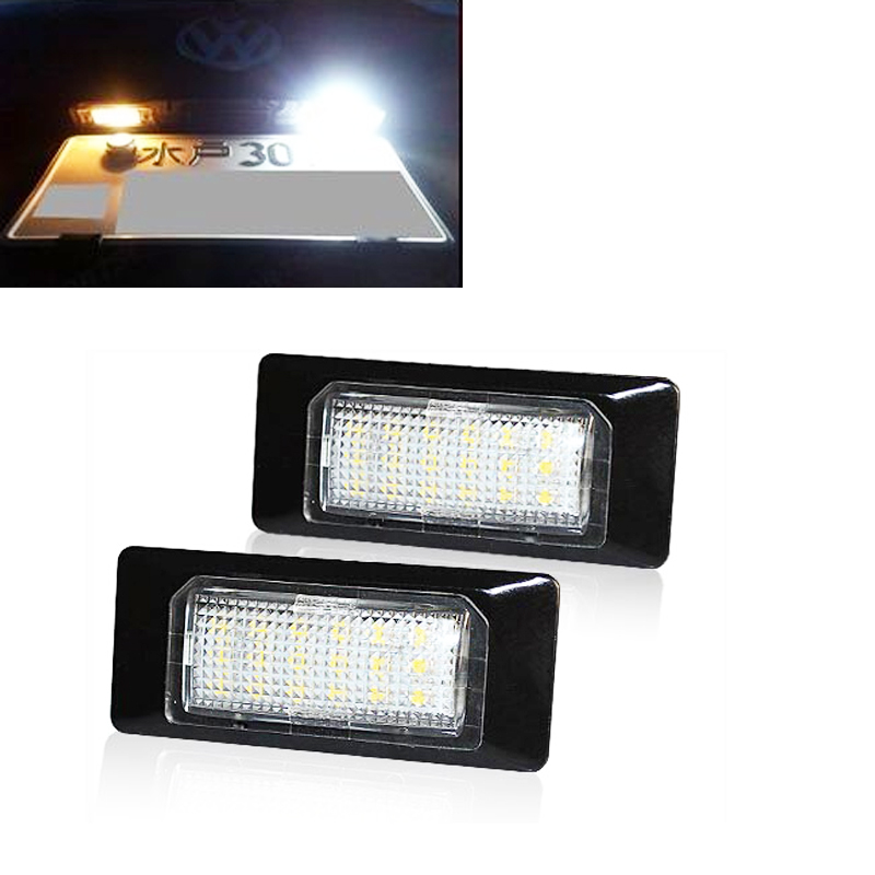 replacement no error car styling led license plate light for vw golf 6 plus golf 6 ariant jetta. Black Bedroom Furniture Sets. Home Design Ideas