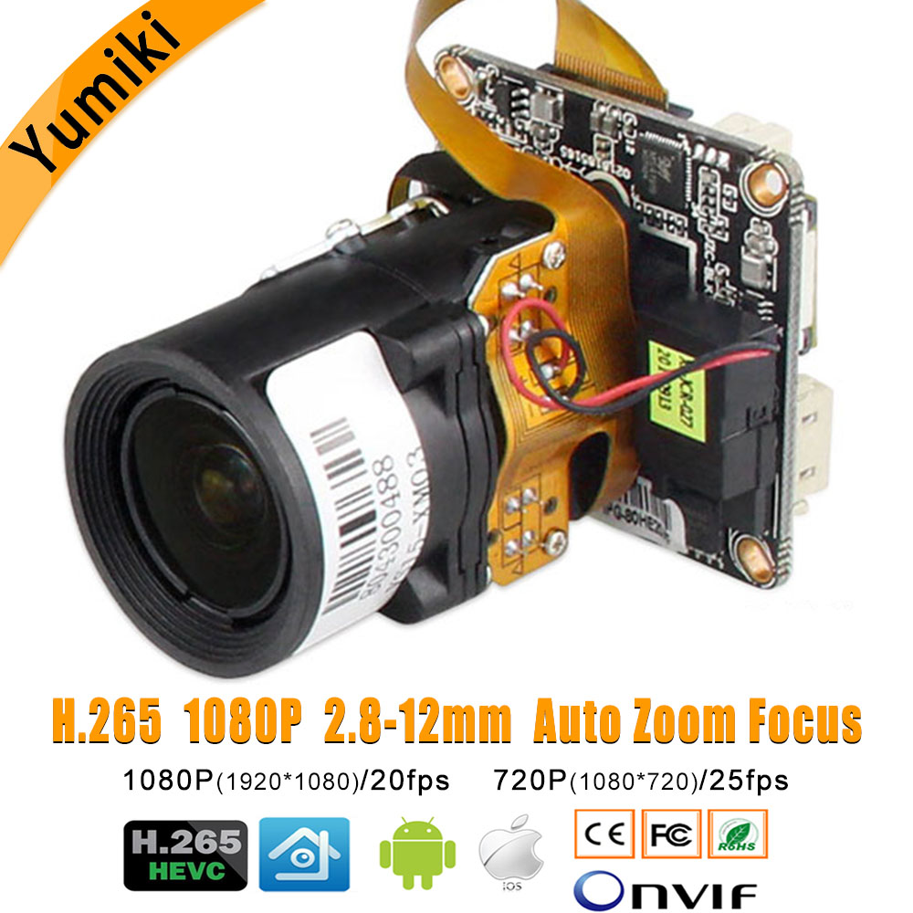1080P H 265 3516E SC2235 2 8 12mm Auto Electric Focus Zoom Lens 4X IP Camera