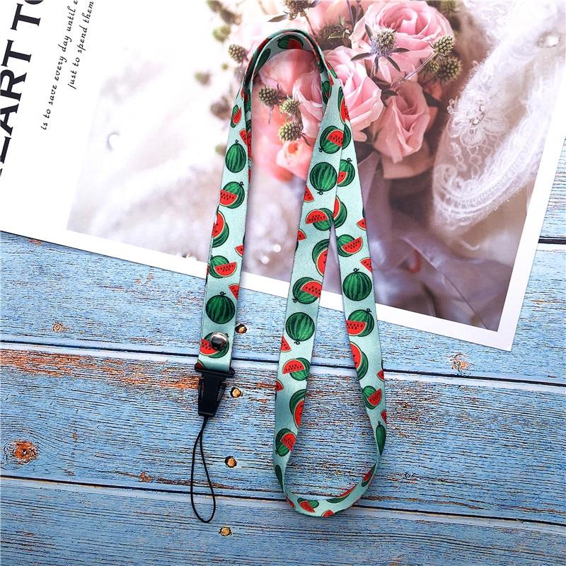 Fruit Watermelon Neck Strap Lanyards For Keys ID Card Gym Mobile Phone Straps USB Badge Holder DIY Hang Rope Lariat Lanyard