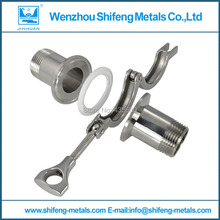 NEW style2 Pcs 2″ DN50 Sanitary Male Thread Ferrule Pipe Fitting+Tri Clamp+PTFE Gasket Stainless Steel SS316