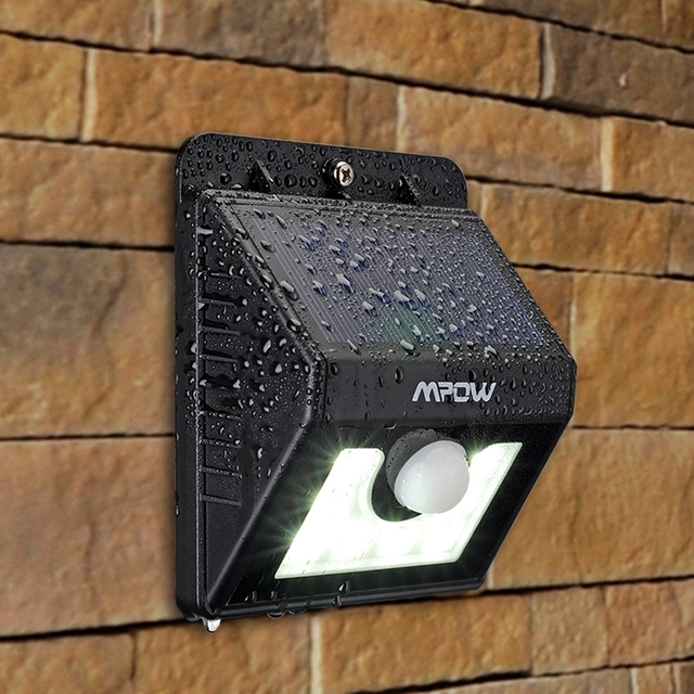 Mpow Solar Light 8 LED Lamp Security Motion Sensor Light Garden Lamp with Three Intelligent Modes 1 PC and 4 Pcs for Choosing