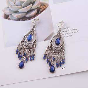 JIOFREE 2018 Fashion Jewelry Wholesale Vintage Bohemia clip on earrings non piercing earrings for women Statement Earrings