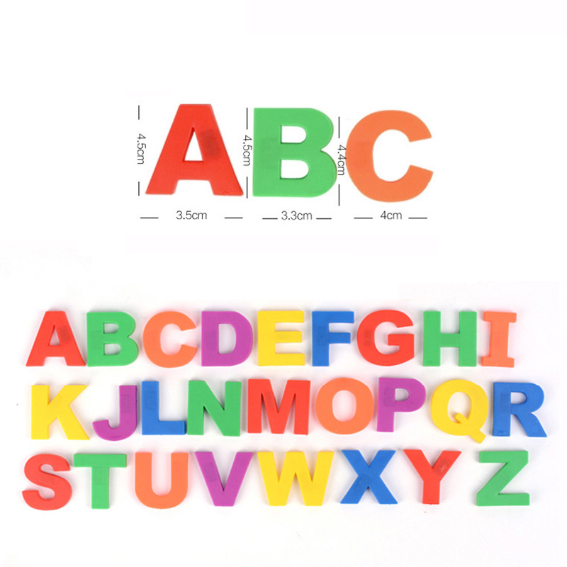 1 Set Cute Colorful Magnetic Fridge Letters / Numbers Teaching Educational Magnets Alphabet FJ88 ...