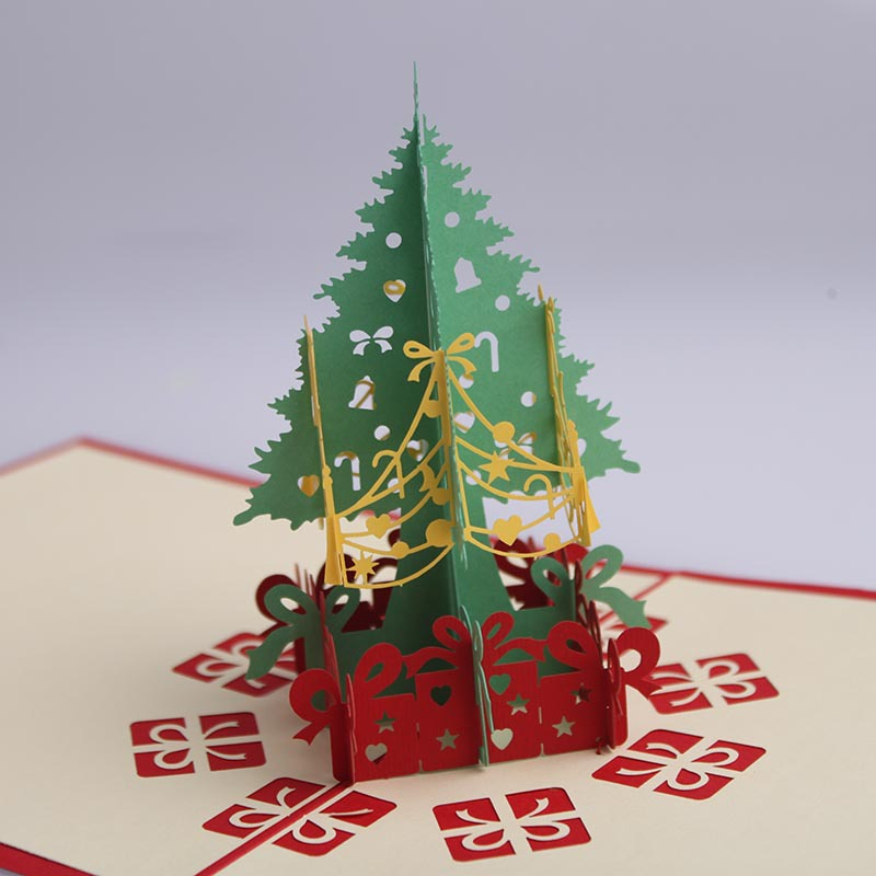Christmas cards Thank you card gifts 3D trees birthday ...