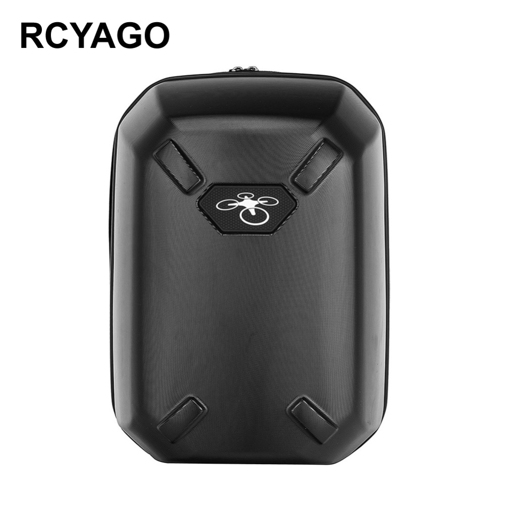 RCYAGO Brand DJI Bag  Hardshell Bag PC Backpack Shoulder Carry Box Hard Shell Case for Phantom 3/4 backpack FPV Drone Quadcopter  2017 new arrival waterproof backpack bag shoulder hard shell case for dji phantom 3 quadcopter free shipping
