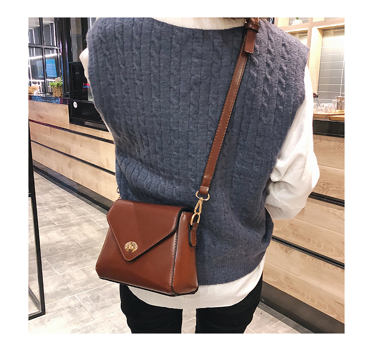European Fashion Retro Ladies Square bag 2018 New High quality PU Leather Women's Designer Handbag Lock Shoulder Messenger Bags 14