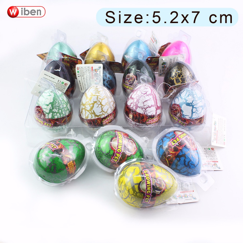 Wiben 4pcs/lot Novelty Gag Toys Children Toys Cute Magic Hatching Growing Dinosaur Eggs For Kids Educational Toys Gifts T006 creative dinosaur egg interactive cute fantastic hatching egg with plush animal novelty gag toys growing dinosaur eggs
