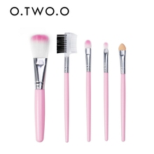 O.TWO.O 5PCS/set Makeup Brush Set Soft Synthetic Hair Eye Shadow Foundation Powder Lip Make Up Brushes Cosmetic Beauty Tool Kit new 5pcs fashion toothbrush makeup brushes set kit professional beauty shaped oval cream foundation lip beauty tool