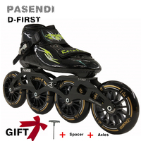 Professional inline Speed Skate Shoes 4 Wheels Roller Skates Women/Men Inline Skating Boots Adults/Child 2018 New Sport Shoes