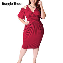 women black/white/red plus size summer dress Elegant M-5XL large bodycon Sexy midi party Big Size dresses vestidos