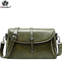 High Quality Oil Wax Leather Women Shoulder Bag Brand Vintage Crossbody Bags for Women 2019 Luxury Handbags Women Bags Designer