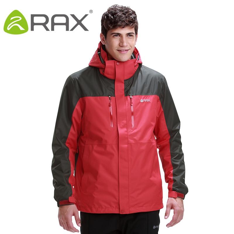 Rax Hiking Jackets Men Waterproof Windproof Warm Hiking Jackets Winter Outdoor Camping Jackets Men Thermal Coat 43-1A061
