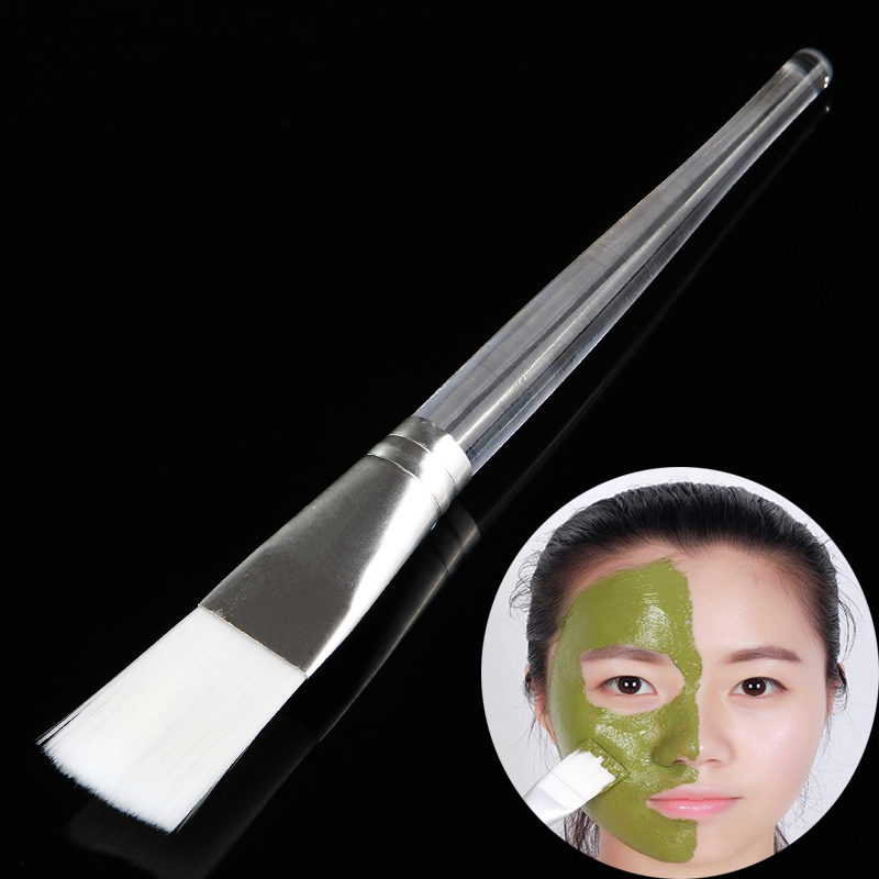 1Pc Facial Mask Brushes Plastic Handle Cosmetic Tools Soft Fiber Hair Foundation Makeup Face Treatment Pro Salon Beauty Tool 1set new 4 in1 makeup beauty diy facial face mask bowl brush spoon stick tool set