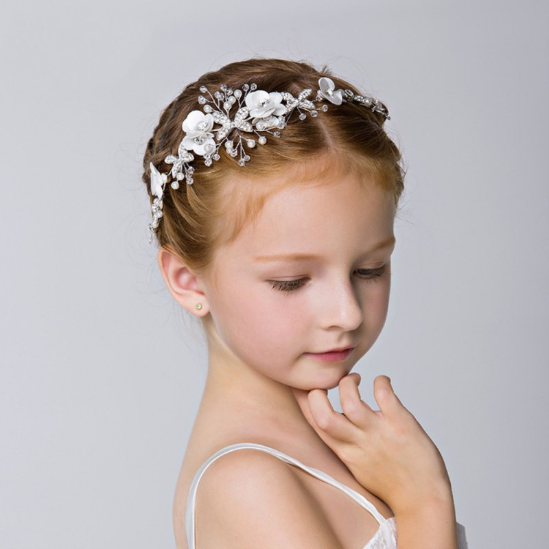 Stylish Women Girls Tiara Pearl Headband Hair Band Bead Garland Wedding Prom Head Wrap Hair Accessories Gift