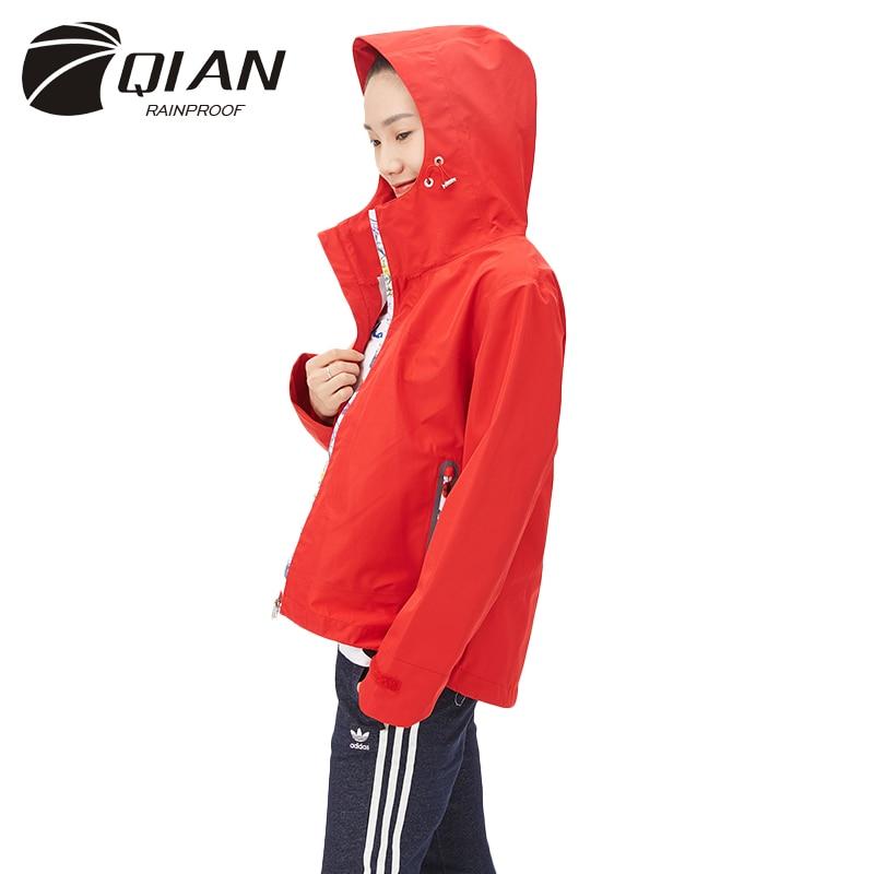 QIAN nepromočiv ženski kišni ogrtač moderan dah kišni kaput - Kućanski robe
