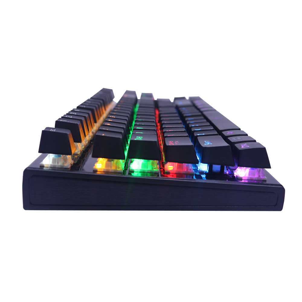 RedThunder バックメカニカルゲーミングキーボードスイッチ 87 キー 100% 抗ゴーストビッグリムーバブル手のためのゲーマー