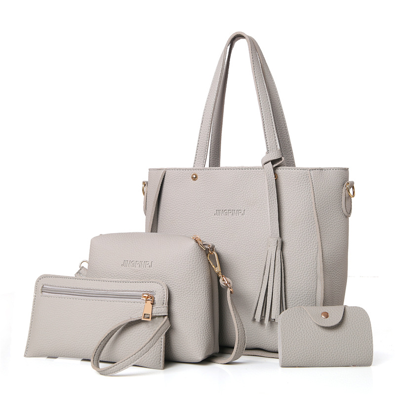 HTB1J283aC3PL1JjSZPcq6AQgpXa7 - Women Bag Set Top-Handle Big Capacity Female Tassel Handbag Fashion Shoulder Bag Purse Ladies PU Leather Crossbody Bag