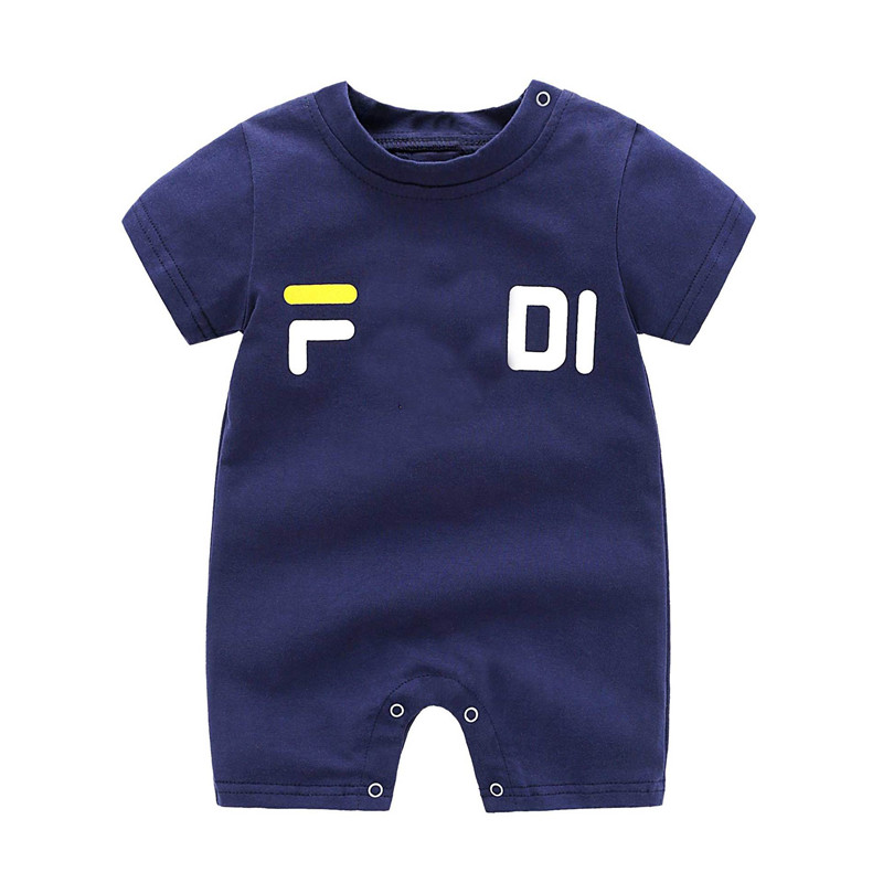 Newborn Baby Boy Clothes Short Sleeve Girl Boy Clothing Printing letters Design 100%Cotton   Rompers   de bebe Costumes White