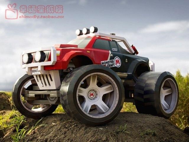 MonsterCraft monstre véhicule tout-terrain modèle papier 3D bricolage modèle papier fait à la main