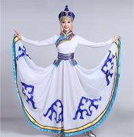 2017 New fashion Mongolia traditional dance clothes classical style stage performance clothing Chinese dance costumes for singer