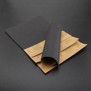 Image 3 - Наждачная бумага DRELD, 5 листов, водонепроницаемая абразивная бумага, наждачная бумага, силиконовый шлифовальный Полировальный Инструмент (1x зернистость 600, 2x1000, 1x1500, 1x2000)