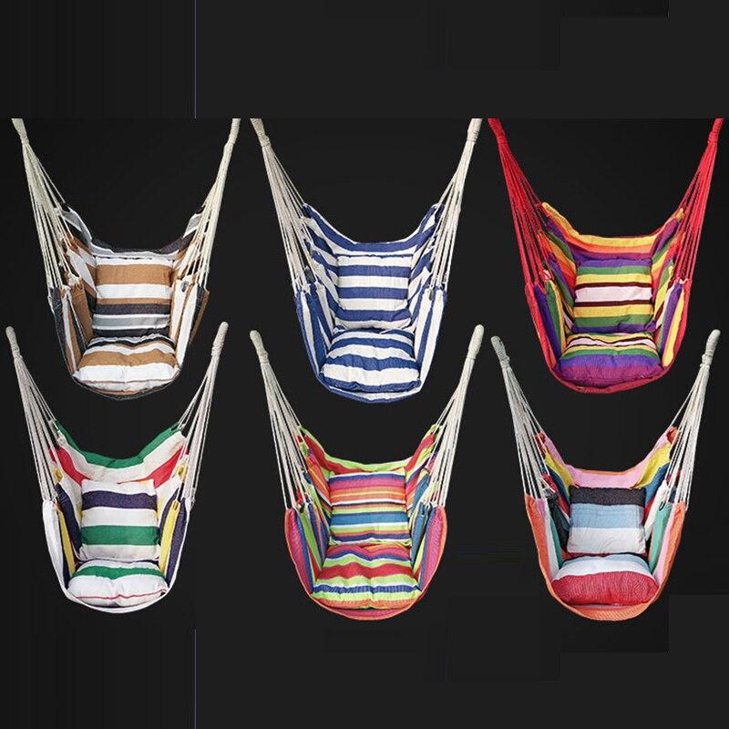 Six conceptions en plein air hamac intérieur adulte enfant balançoire chaise peut avec coussins portant 120 KG chaise hamac balançoire ascenseurs