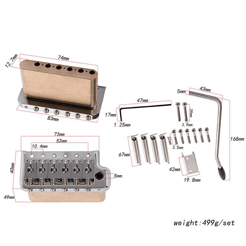 Guitare électrique trémolo système pont en acier inoxydable selles accessoires d'instruments de musique xr-hot - 2