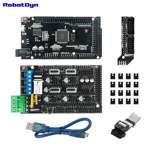 Image 1 - 3D drucker & CNC grundlegende KIT. MEGA 2560 R3 + RAMPEN 1,4 + Adapter + microusb kabel (50 cm) kompatibel für Arduino und RepRap projekte