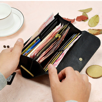 Women Genuine Leather Wallets Female Cowhide Clutch Purse Butterfly Lady Coin  Womens Phone Bag