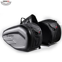 58L Waterproof Motorcycle Saddle bags Universal Moto Riding Knight Helmet Bags Tail Luggage Suitcase for Yamaha Suzuki Kawasaki