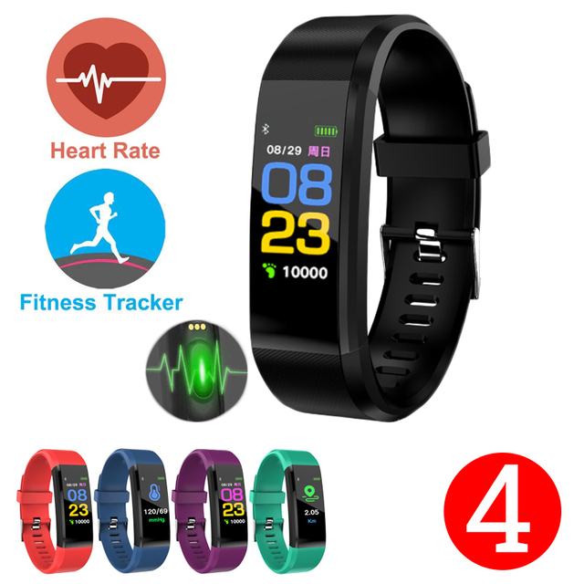 Nuovo 2019 Braccialetto Intelligente Bluetooth di Sport Wristband Heart Rate Monitor Guarda Attività Fitness Tracker Sonno Tracker PK Mi Fascia 4
