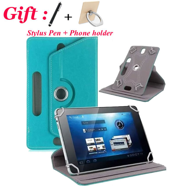 For Visual Land Prestige Elite 10QL /10QS 10.1 inch Universal Tablet Cover Case 360 Degree Rotating Free Stylus 7 Colors + Gift