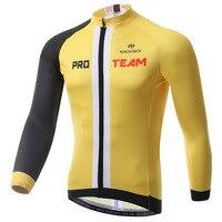 BOODUN The Leader Yellow Cycling Wear Long Sleeve Jacket Bicycle Serve Catch Down Windbreak Keep Warm