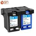 GN совместимый 21XL 22XL чернильный картридж черного цвета Замена для HP 21 22 xl для Deskjet F2180 F2200 F2280 F4180 F300 F380
