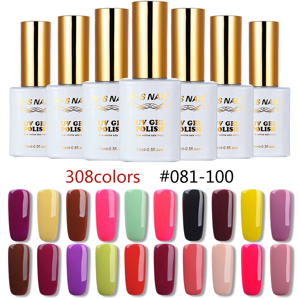 RS 15ml nail gel polish uv led color gel varnish