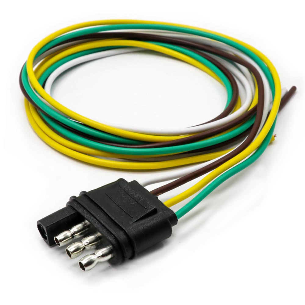 small resolution of tirol 4 way flat trailer wire harness extension connector plug with 36 inch cable length end connector t24509a free shipping in trailer couplings