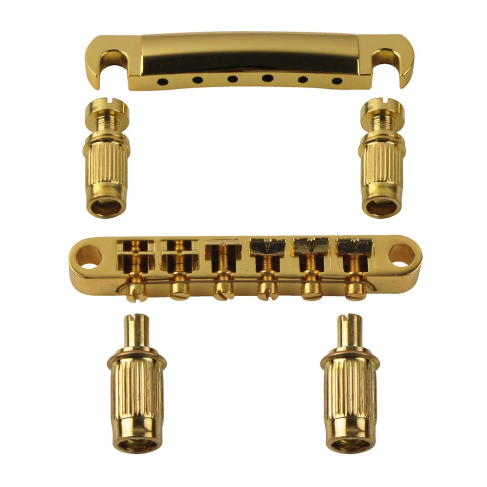 new tune o matic bridge tailpiece for lp electric guitar bridge replacement golden in guitar. Black Bedroom Furniture Sets. Home Design Ideas