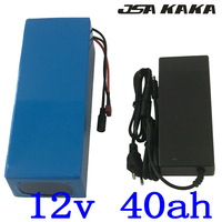 Free customs fee 350W 12V 40AH li ion battery 12V 40000MAH Lithium battery for 12V 3S electric bike Battery 12.6V 5A charger|Electric Bicycle Battery|   -