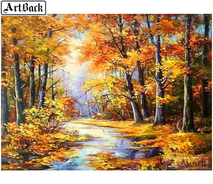 Autumn Tree 5D Diamond Painting DIY Broderie Cross Stitch Home Decor Craft
