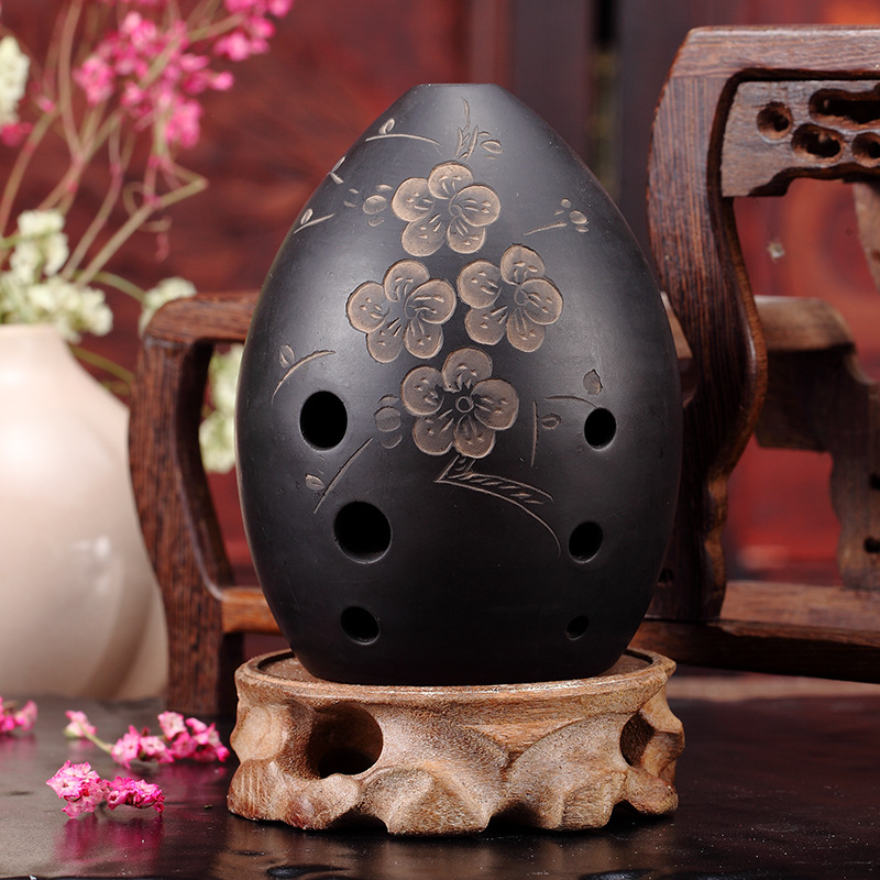 8 Holes Ocarina Black Clay Xun Musical Instrument For Children Beginner Gift #20/1