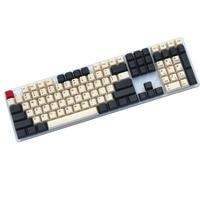 Dark grey/cream 108 KEY Mechanical keyboard PBT keycap cherry profile Dye Sublimated MX switch English/Korean Keycap