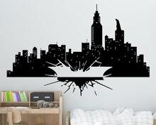 Dark Knight Wall Sticker Vinyl Waterproof Art Design Batman Gotham Skyline Kids Room Boy Bedroom Decoration W481